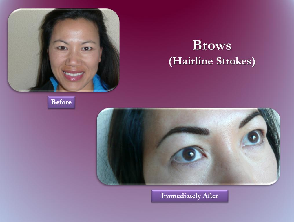 Brows permanent makeup